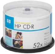 Hewlett-Packard CD-R 700MB 52x 50er Spindel