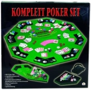 The Toy Company Poker-Set mit faltbarer Spielmatte