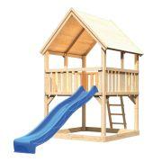 Akubi Spielturm Luis inkl. Wellenrutsche Set A