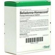 Medikament BELLADONNA HOMACCORD AMP., 10 St.