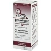 Medikament BROMHEXIN 12 TROPFEN, 100 ml (N3) Tr. 12 mg/ml