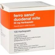 Medikament FERRO SANOL DUO MITE 50MG, 100 Kps. (N3) 50 mg
