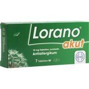 Medikament LORANO AKUT, 7 Tbl. (N1) akut