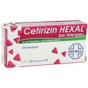 Medikament CETIRIZIN HEXAL B ALLERGIE, 20 Filmtbl. (N1)