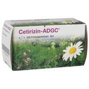Medikament CETIRIZIN ADGC FILMTABL 100 ST