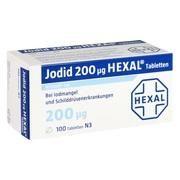 Medikament JODID 200 HEXAL, 100 Tbl. (N3) 200 µg