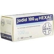 Medikament JODID 100 HEXAL, 100 Tbl. (N3) 100 µg