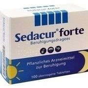 Medikament SEDACUR FORTE BERUHIGUNGDR, 100 Drg. (N2)
