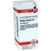 Medikament GINKGO BILOBA D 6 GLOBULI, 10 g
