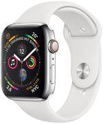 Watch Series 4 GPS + Cellular 44 mm Edelstahlgehäuse mit Sportarmband (MTX02FD/A)