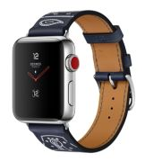 Apple Watch Series 3 Hermès GPS + Cellular 38 mm Single Éperon d'Or Gala-Lederarmband