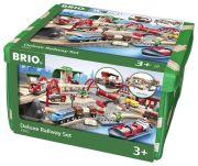 Brio Straßen & Schienen Bahn Set Deluxe
