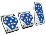 Eufab Pedal-Set mit blauem Loch-Design