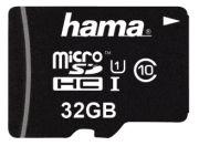 Hama microSDHC Class 10 UHS-I 32GB + Adapter