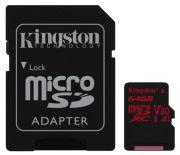 Kingston Canvas React microSDXC 64GB (SDCR/64GB)