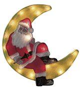 Konstsmide Fensterbild Weihnachtsmann im Mond (2860-010)