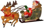 Konstsmide Fensterbild Rentier mit Weihnachtsmann (2853-010)