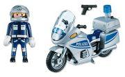 Playmobil Polizeimotorrad mit Blinklicht 5180
