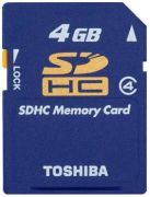 Toshiba SDHC Card 4GB Class 4