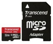 Transcend microSDHC Class 10 UHS-I 300x Premium 32GB