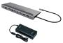 USB-C Metal Low Profile 4K Triple Display Docking Station (C31FLATPLUS112W)