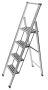 Alu-Design Klapptrittleiter 4-stufig 601013100
